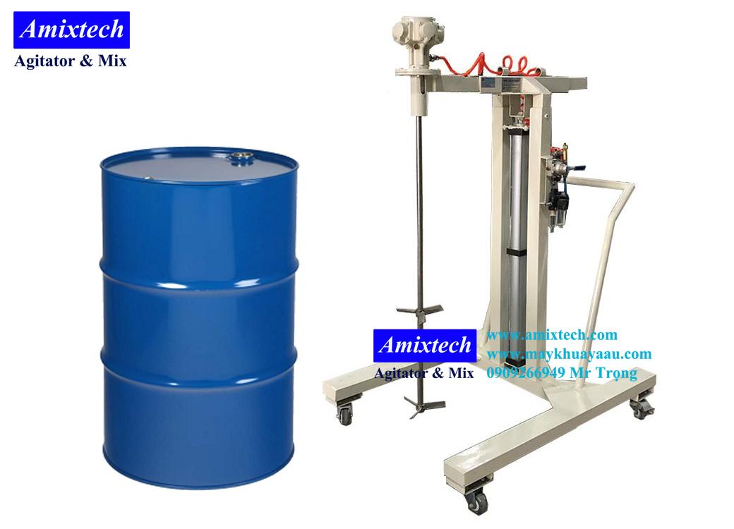 máy khuấy khí nén nâng hạ 200 lít
