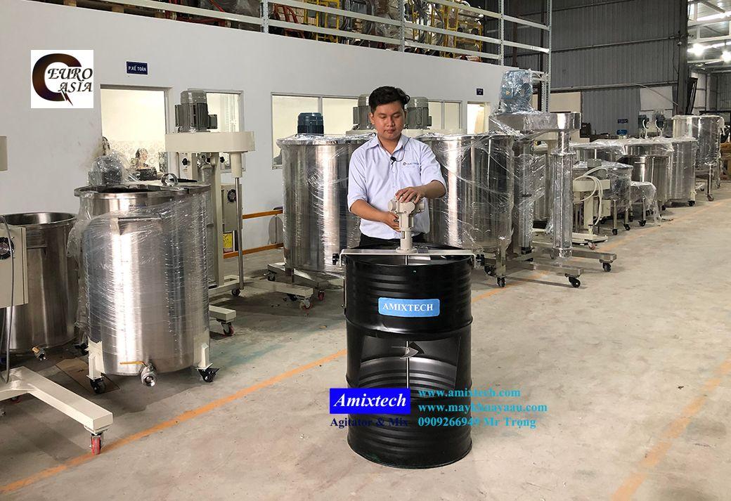 máy khuấy khí nén dung môi 200 lít
