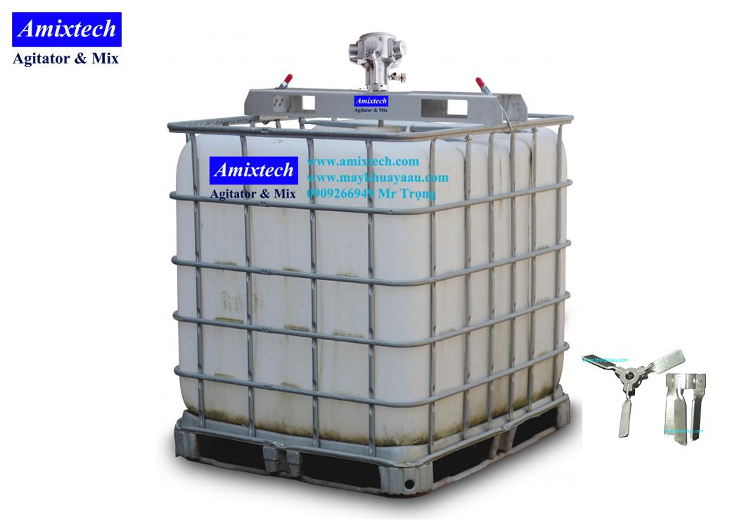 máy khuấy gá thùng ibc 1000 lít