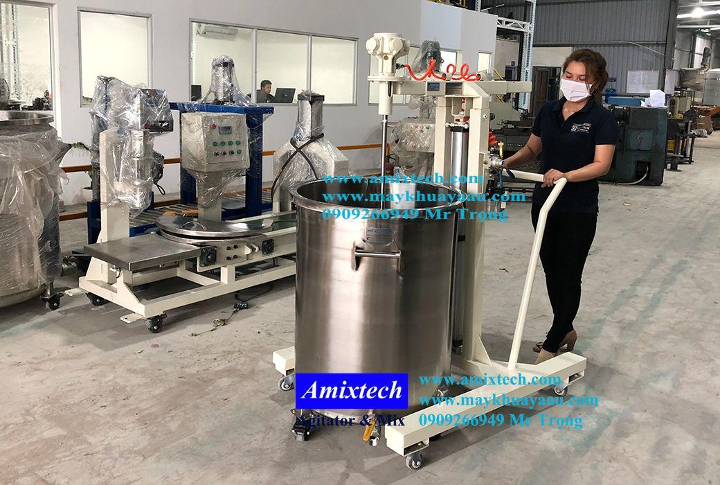 máy khuấy khí nén 200 lít