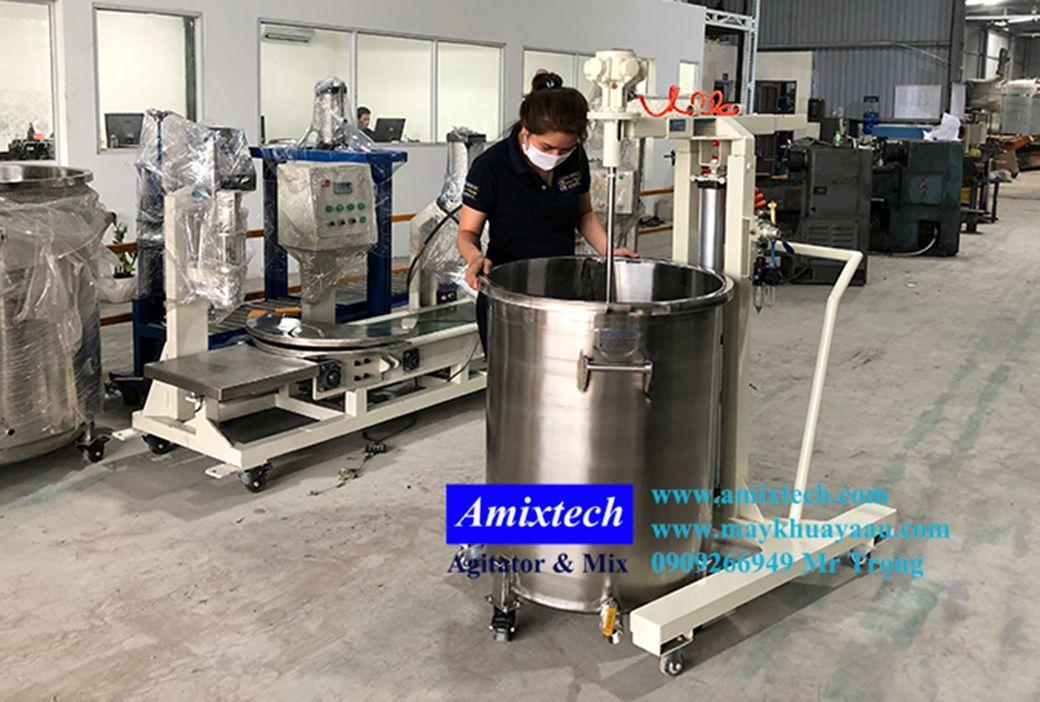 máy khuấy dung môi khí nén