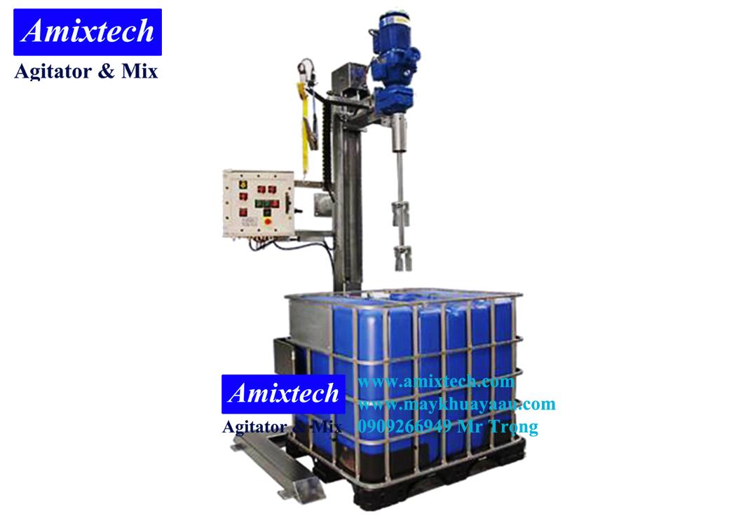 máy khuấy hóa chất thùng ibc