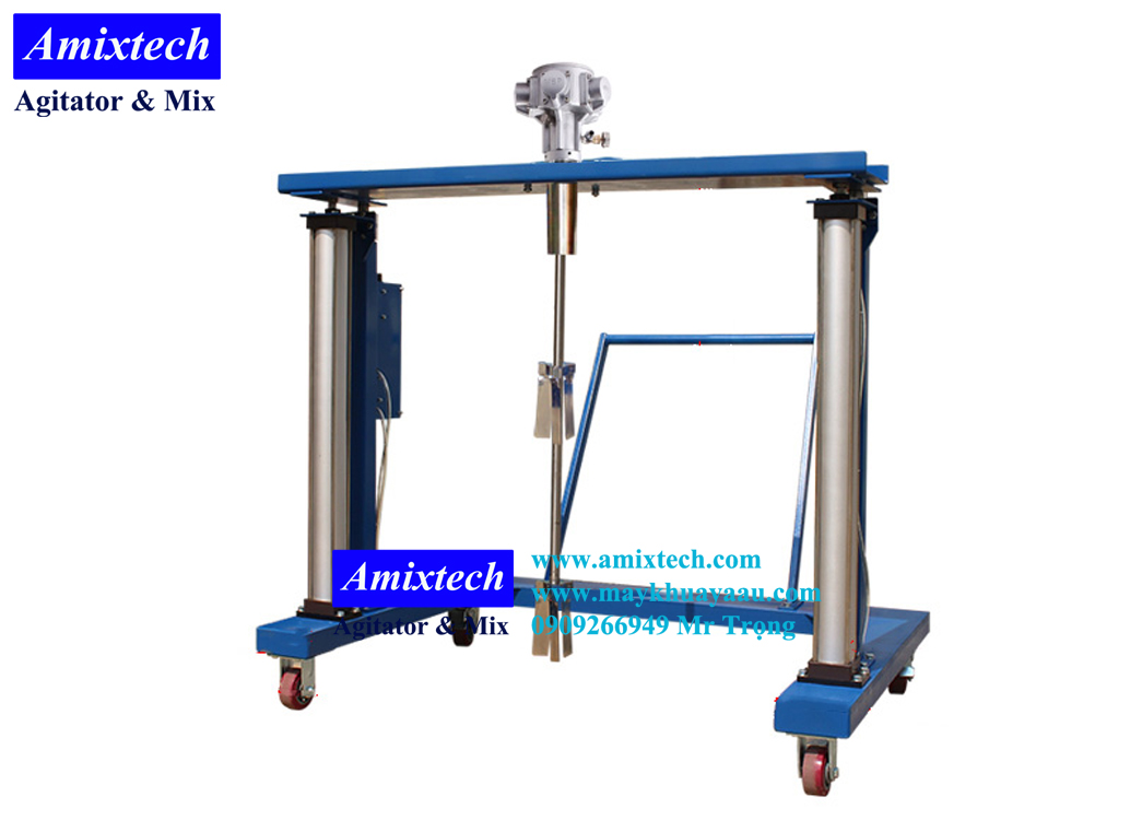 máy khuấy khí nén thùng ibc Amix-K07